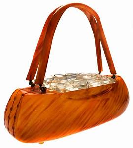 Camo Designer Handbags Carved Butterscotch Bakelite Handbag Purse By Llewellyn