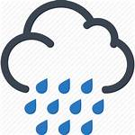 Rainy Weather Icon Cloud Rain Icons Forecast