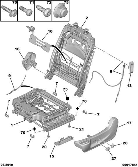 siege conducteur xsara picasso réparation siège électrique qui bouge gt jeu dans l 39 assise
