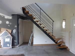 Escalier Metal Et Bois : escalier sur mesure le mans 72 sarthe au serrurier lehoux ~ Dailycaller-alerts.com Idées de Décoration