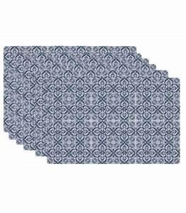 Set De Table Design : set de table design carreaux de ciment en vinyle bleu set de 6 ~ Teatrodelosmanantiales.com Idées de Décoration