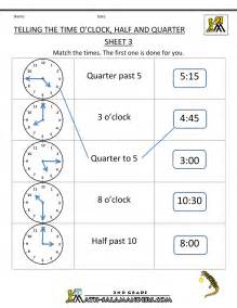 time worksheet o 39 clock quarter and half past - Math Word Problems For 1st Grade