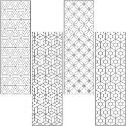 coloring pages designs geometric collections