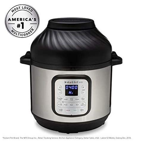 fryer air combo cooker pot pressure instant 8qt quart epc metallic electronic renewed fryers duo appliancebee amazon clean