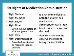 medication administration for school personnel ppt video With 6 rights of medication