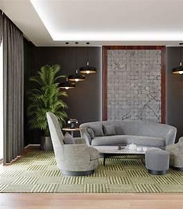 3d, Model, Living, Room, Modern, Interior, Design, Contemporary