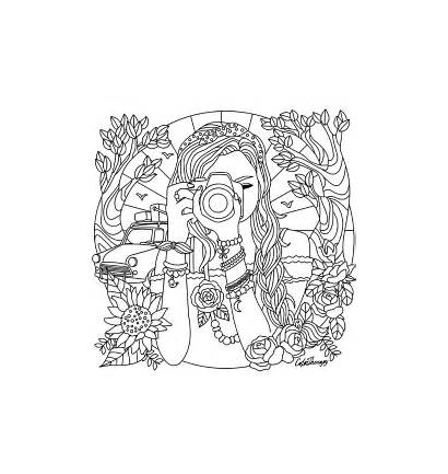Coloring Pages Camera Printable Adults Creative