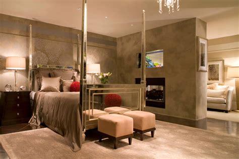 Warm, Contemporary Master Bedroom  Contemporary Bedroom