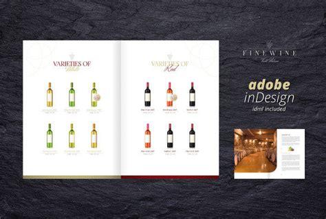 wine brochure templates  psd ai eps format