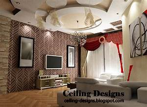 Creative gypsum ceiling design for living room for Gypsum ceiling designs for living room