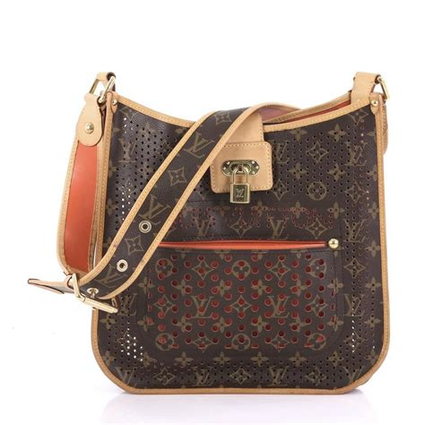 Louis Vuitton Cowhide Leather Bag by Louis Vuitton Musette Perforated Monogram Orange Cowhide