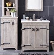 Bathroom Cabinets Wooden White by Creative Distressed Wood Bathroom Vanities Using Rustic White Oak Cabinets Wi