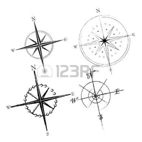 Tatouage Boussole Geometrique