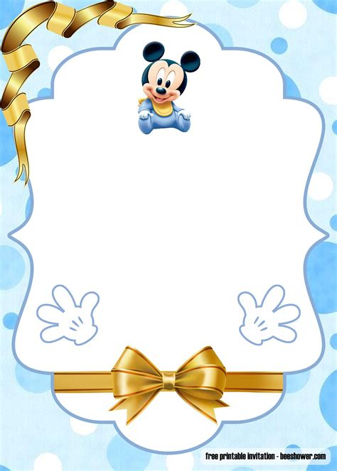 printable mickey mouse baby shower invitations