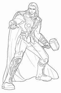 Thor para colorear, pintar e imprimir