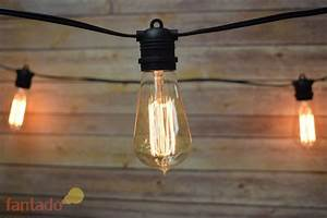 24 socket outdoor commercial string light set edison st58 With outdoor string lights squirrel proof