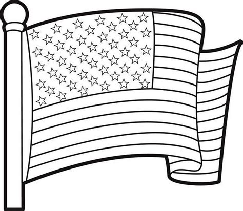 printable usa flag coloring page