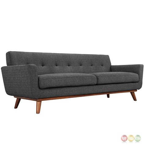 tufted sofa and loveseat set engage modern 2pc upholstered button tufted loveseat and