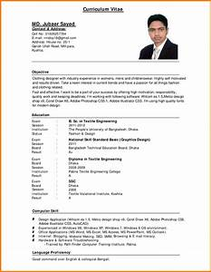 standard cv format bangladesh professional resumes sample With cv forms