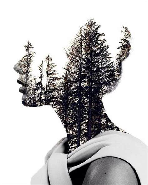 amazing double exposure photography  french artist nevess