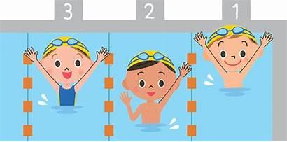 Swimming Lesson Children Pool Vector Swim Clip