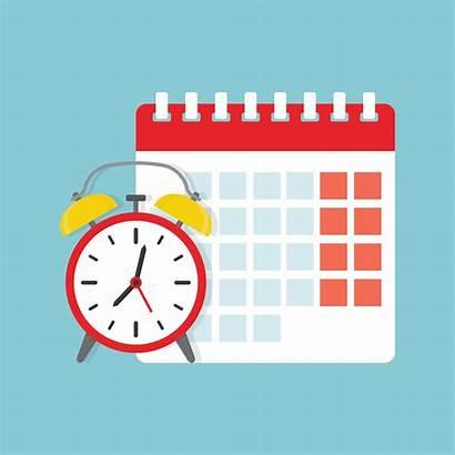 Calendar Clock Icon Deadline Appointment Vector Illustration