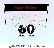 Clipart - 60th anniversary invitation border. Stock ...