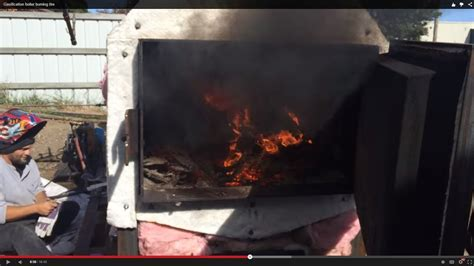 gasification boiler burning tire youtube
