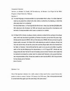 business law assignment sample