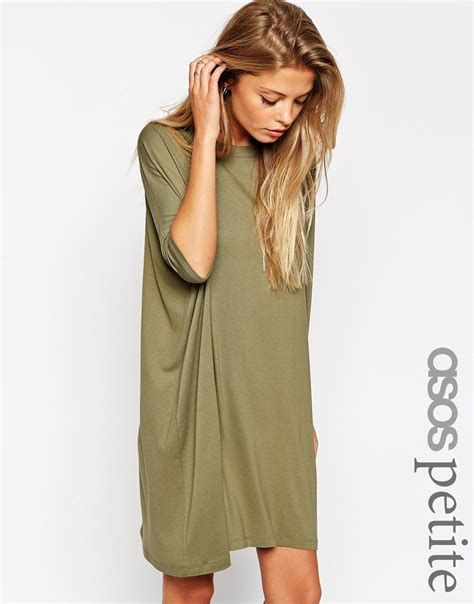 t shirt dresses asos the t shirt dress with sleeves in lyst