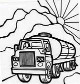 Coloring Semi Truck Pages Oil Carrier Trucks Peterbilt Drawing Tanker Netart Printable Pencil Sheets Dump Wooden Toy Starts Morning Working sketch template