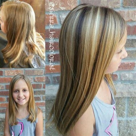 Little Girl Highlights Lanza Haircolor Highlight