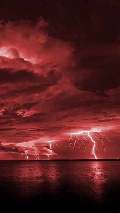 Lightning Aesthetic Iphone Wallpapers Phone Imgur Dark