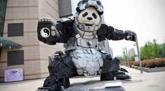 Science Kitchen by Iron Panda Is When A Panda Wears An Iron Man Exoskeleton
