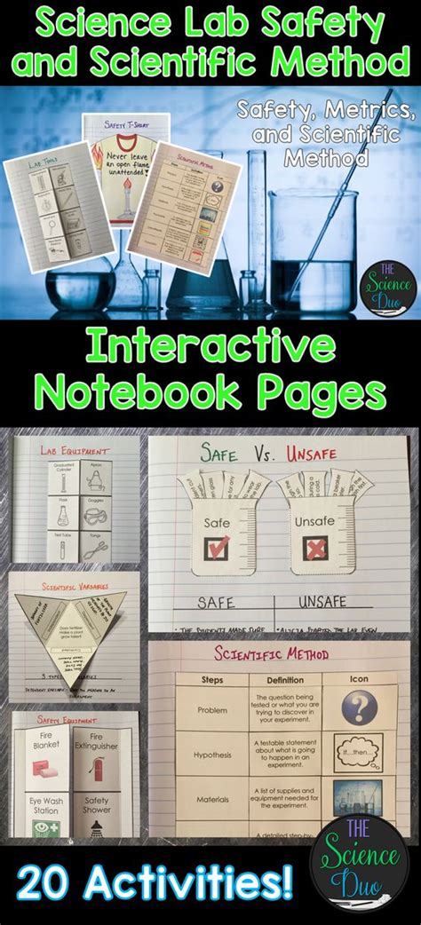 Science Lab Safety And Scientific Method Interactive Notebook Pages  Activities, The O'jays And