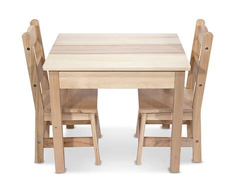 wooden table chairs 3 set mindful toys