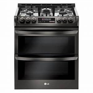 Lg Electronics 6 9 Cu  Ft  Smart Double Oven Slide In Gas