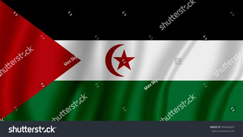 Flag Of Sadr (sahrawi Arab Democratic Republic) Stock