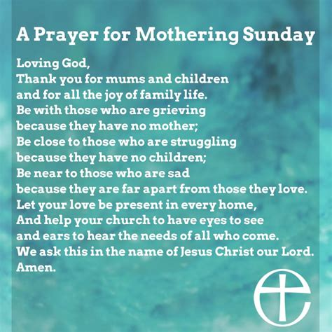 church  england releases prayers  mothering sunday