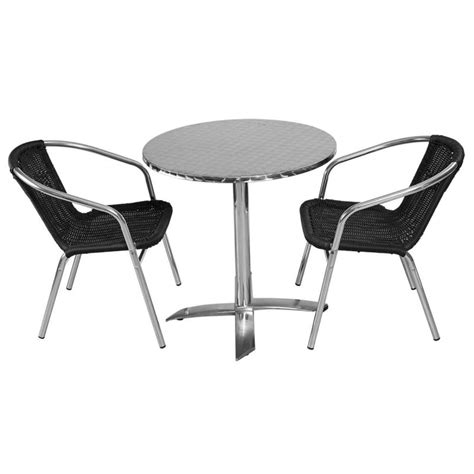 table ronde et chaises table ronde en aluminium mobeventpro mobilier chr