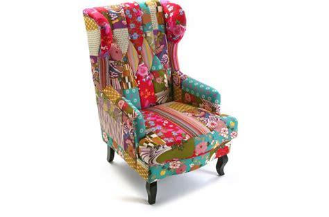 eco cuisine fauteuil bergère en tissu patchwork rosa fauteuil design