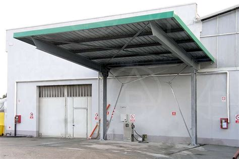 cantilever canopy with galvanized and painted structures deltabi