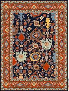 Tea and carpets drawing oriental carpet designs is an for Drawing of carpet design