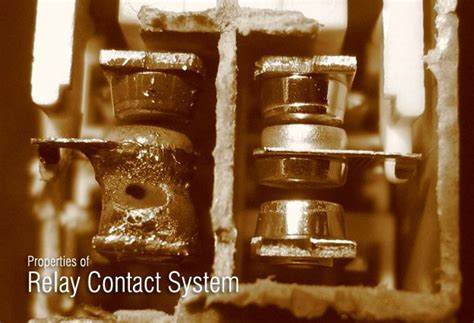 Properties Relay Contact System