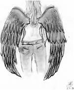 Black Angel Wings Draw...