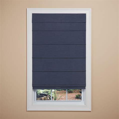 white linen l shade home fashions navy room darkening cordless fabric