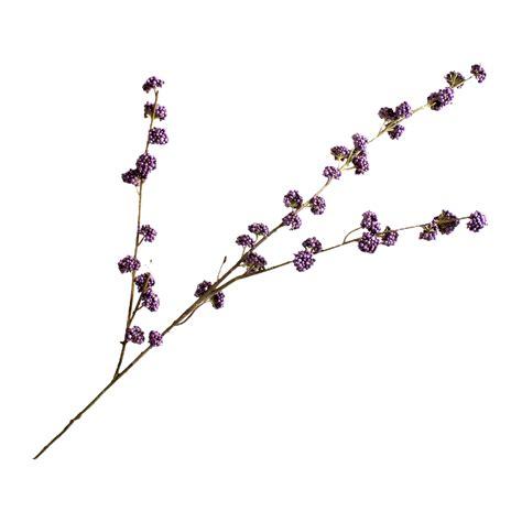 Varia Callicarpa Purple Spray Faux Stem  Shop  Lifelike Flowers