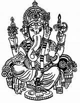 Ganesha Ganesh Drawing Coloring Pages Lord Colouring Draw Sketch Line Chaturthi Ganpati Drawings Cliparts Printable Clip Coloringtop Arts Ji Colorful sketch template