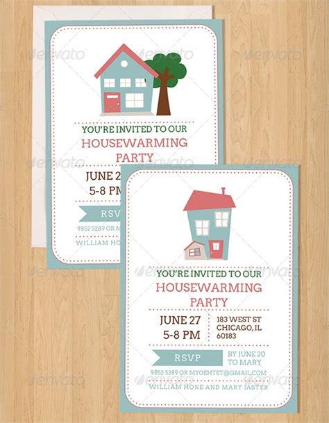 housewarming invitation templates  psd eps