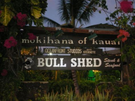 bull shed kauai reservations bull shed kapaa menu prices restaurant reviews